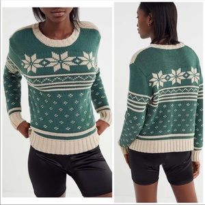 Urban Outfitters fair isle sweater super cozy NWT